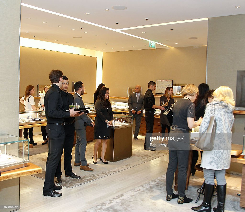 Customers Look Around During The David Yurman Celebrates Grand Re Opening Of Houston