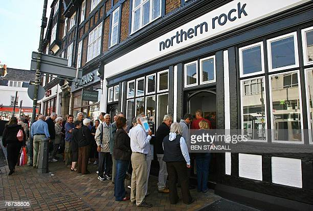 Customers queue to enter a Northern Rock branch in Bromley in southeast London 14 September 2007 The Bank of England has stepped in to provide...