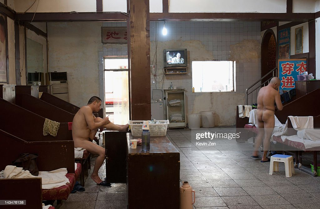 Customers rest after bathing at Shuangxing Tang Bathhouse on December 8, 2011 in Beijing, China. The Shuangxing Tang Bathhouse is the last remaining public bathhouse in Beijing and faces demolition as the area undergoes development. Opened on 1916, the bathhouse provides its patrons with a culture that is dying out, offering traditional treatments and massages it stands as a relic of the old Beijing, but with ever-decreasing water resources its future remains uncertain.