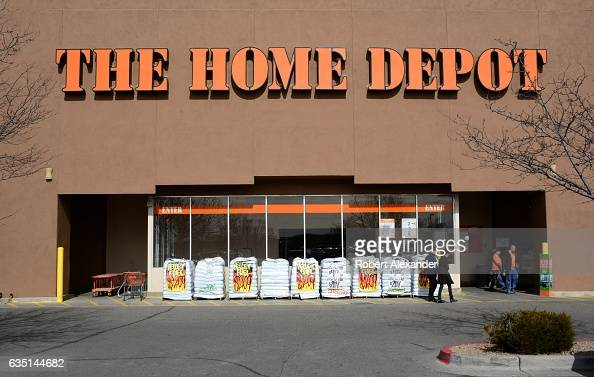Customers shop at a Home Depot store in Santa Fe New Mexico in February 2017 The Home Depot is the largest home improvement supplies retailing...