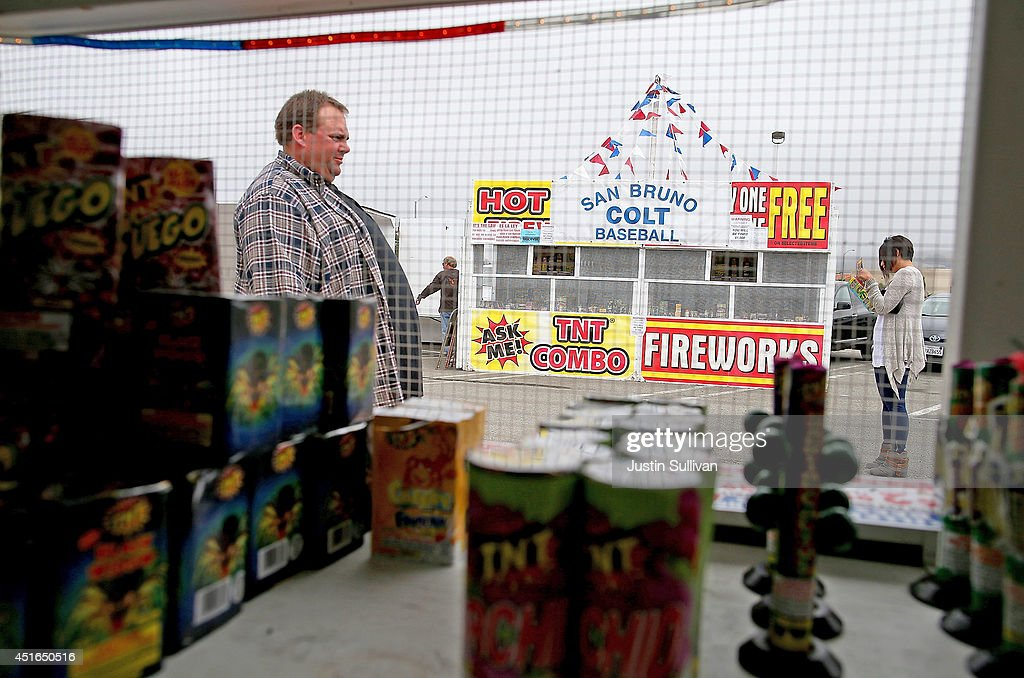 Customers shop for fireworks on July 3, 2014 in San Bruno, California. As California's historic drought continues and fire danger is at severe levels, fire departments in the greater San Francisco Bay Area are on heightened alert as vendors in select cities in Santa Clara, San Mateo and Alameda counties sell fireworks ahead of the Fourth of July holiday.