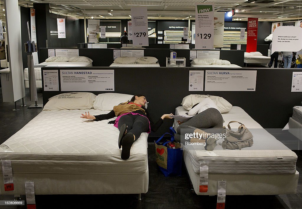 inside an ikea store ahead of durable goods figures. Black Bedroom Furniture Sets. Home Design Ideas