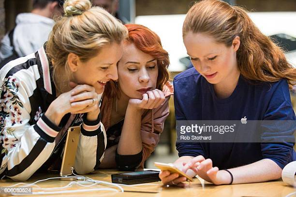 Customers visit Apple Covent Garden for the iPhone 7 and Apple Watch Series 2 att Covent Garden on September 16 2016 in London England