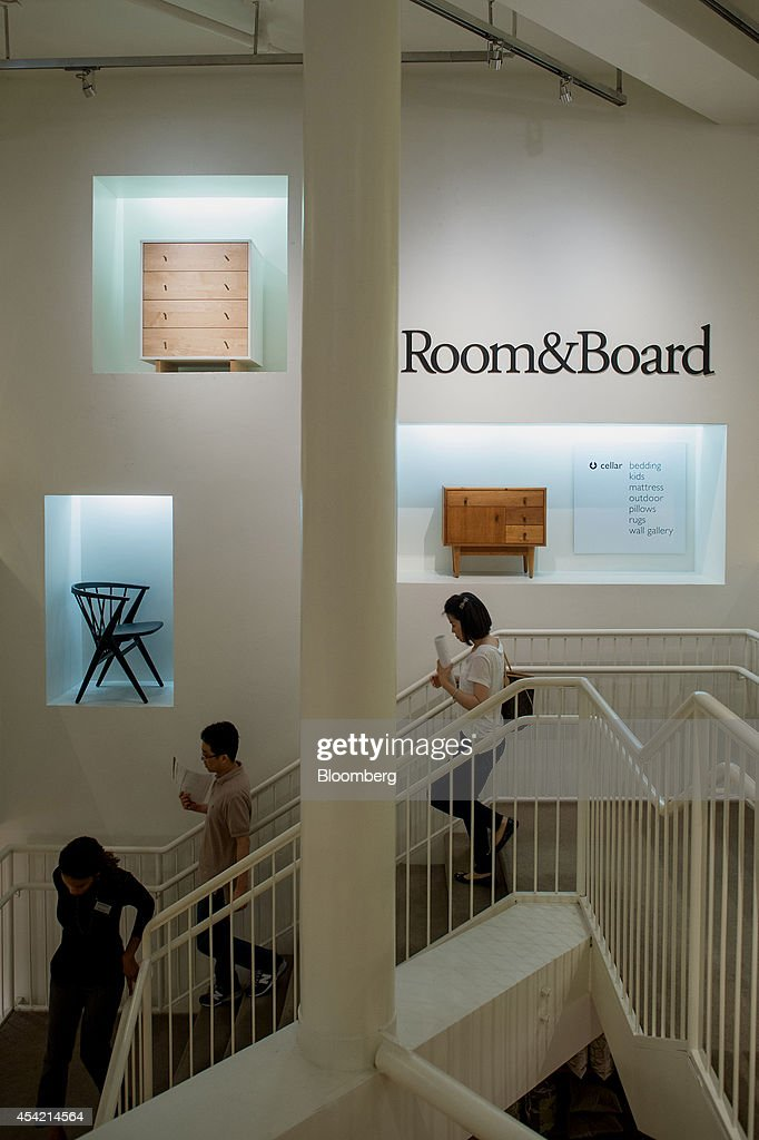 Finest Customers Walk Down Stairs While Browsing Furniture At The Room And  Board Home Furnishings Store In With Room And Board Furniture Store