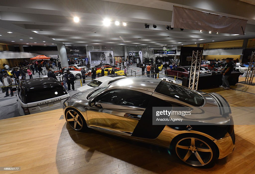 A customized Audi R8 is seen during the 2014 New York International Auto Show at the Jacob Javits Center New York, United States on April 25, 2014.