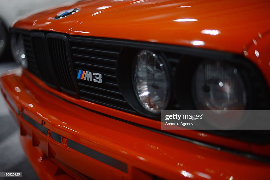 A customized BMW M3 is seen during the 2014 New York International Auto Show at the Jacob Javits Center New York, United States on April 25, 2014.