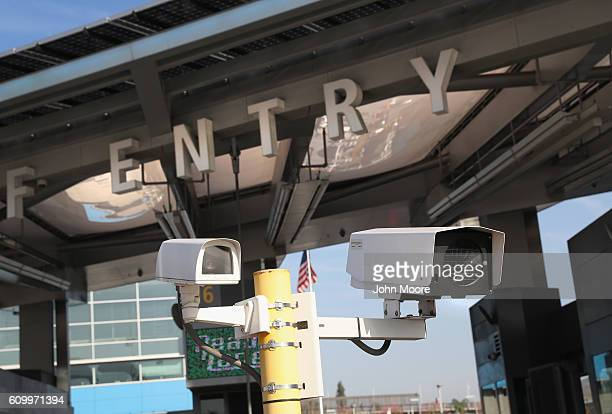 S Customs and Border Protection security cameras scan license plates as motor vehicles cross the USMexico border from Tijuana Mexico on September 23...
