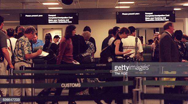 Customs Immigration area at Tullamarine Airport Melbourne 9 December 1999 THE AGE Picture by MATTHEW BOUWMEESTER