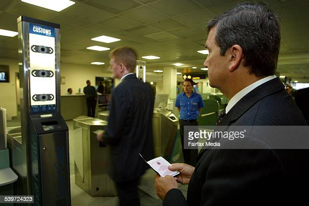Customs launches the New Smart Gate new border selfprocessing system for Australian International passengers Pic of Minister for Justice and Customs...