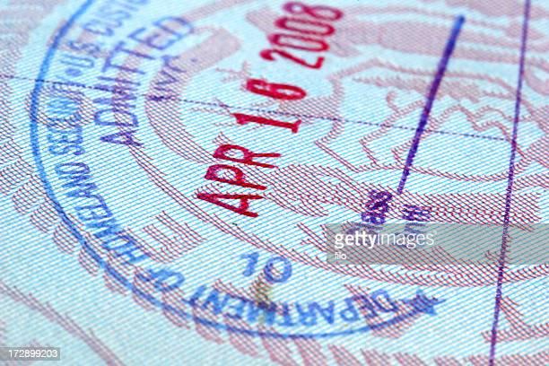 Douanes Tampon de visa