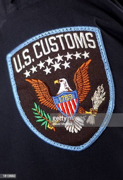 S Customs Service arm patch is shown at the San Ysidro Port of Entry February 24 2003 in San Ysidro California On March 1 US Customs will merge with...