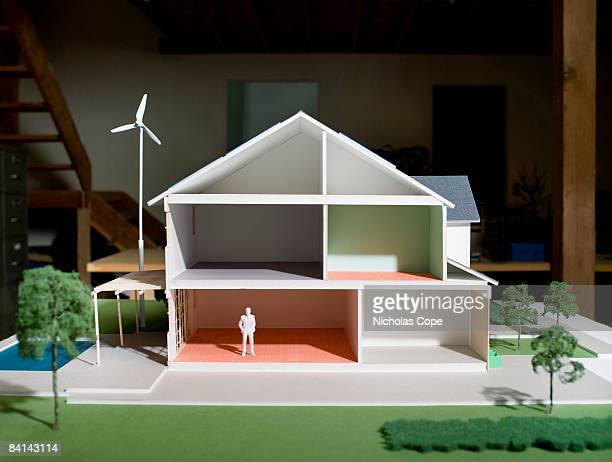 Cut away side view of architectural model