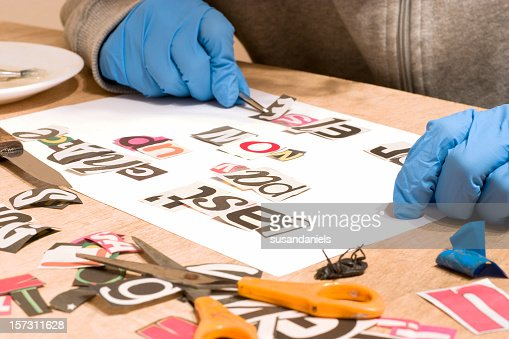 Image result for letters written by cutting out magazines  getty images