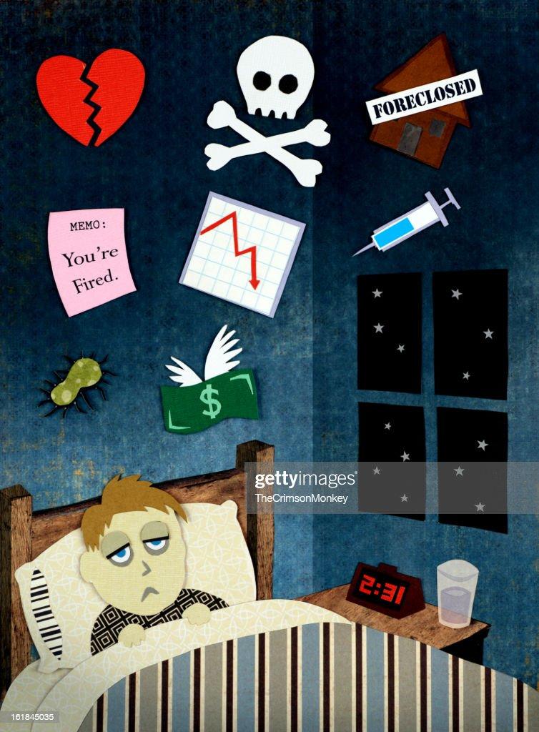 不眠症カット紙 : ストックフォト