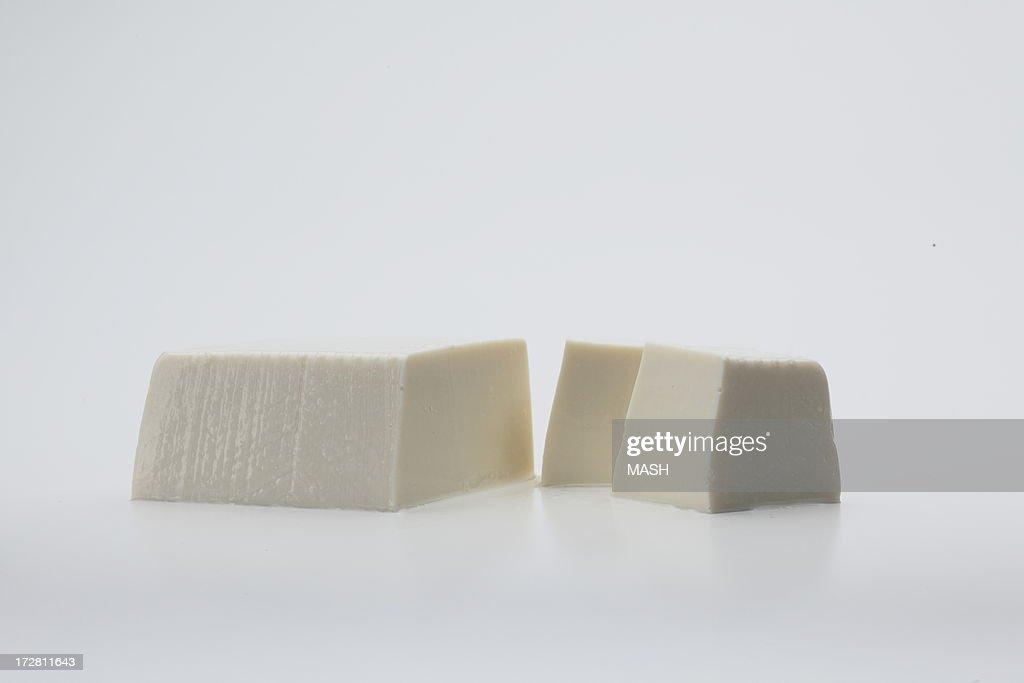 cut tofu : Stock Photo