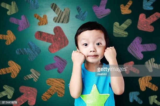 Cute asia children in the classroom