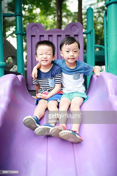 Cute Asian child in the Playground