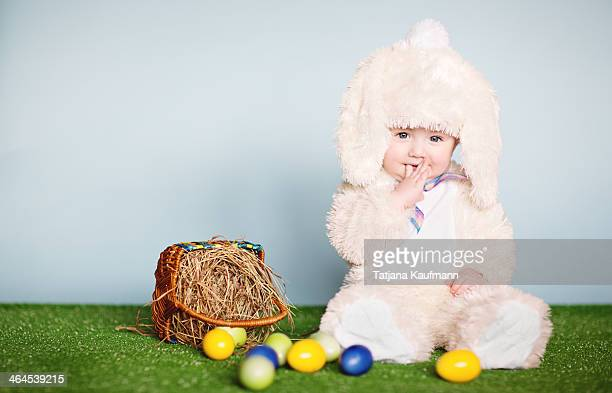 Cute Baby in Easter Bunny Costum