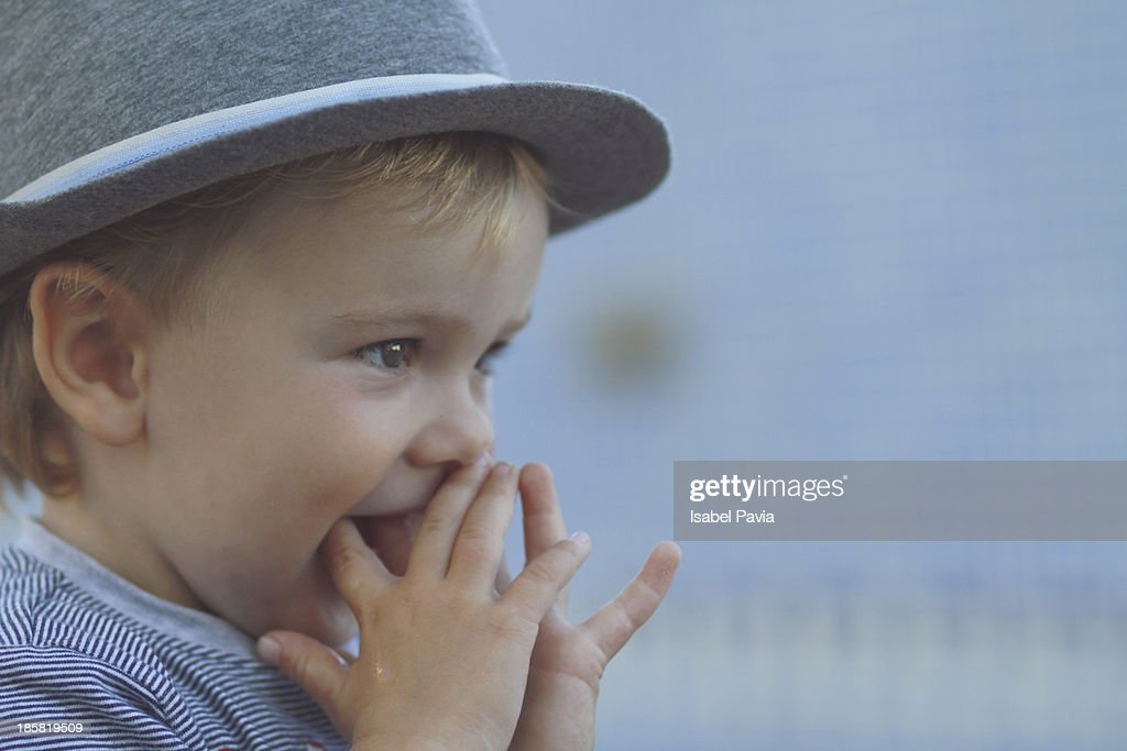 Cute baby with hat : Stock Photo