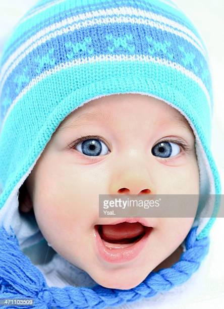 Cute baby with winter hat