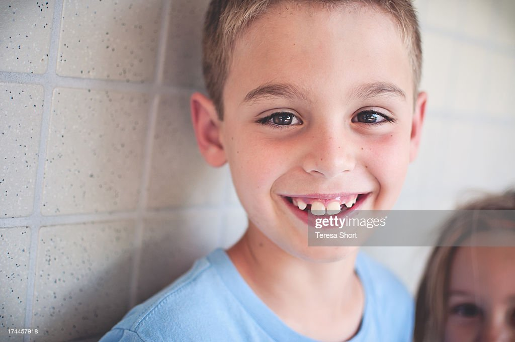 Cute Boy with Big Smile : Stock Photo