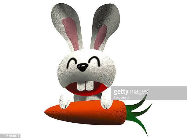 cute, cartoon, happy, rabbit, animal