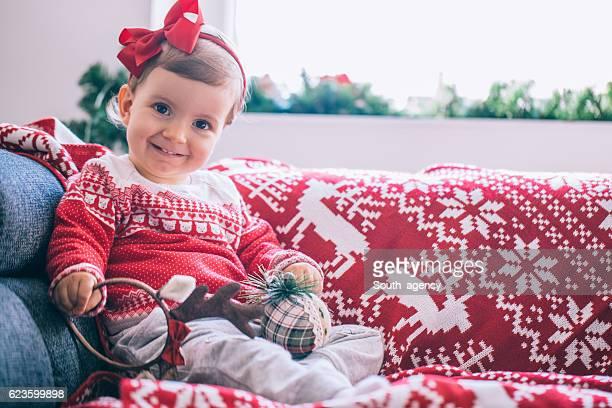 Cute child on christmas
