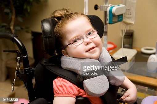 Cute Child with Cerebral Palsy