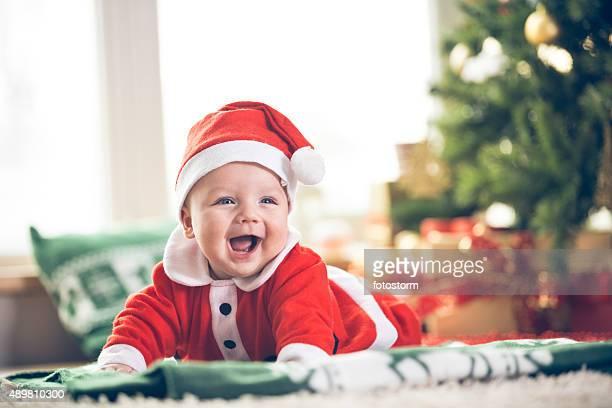 Adorable bébé garçon de Noël