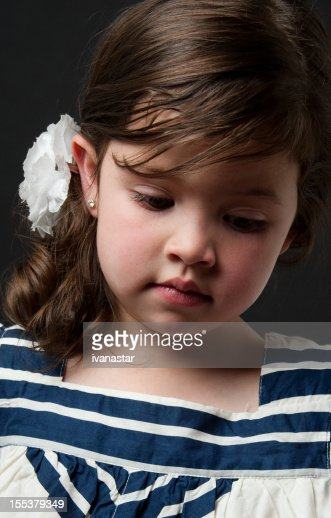 Adorable Four Year Boy With Big Blue Eyes Stock Image: Cute Four Year Old Girl Stock Photo