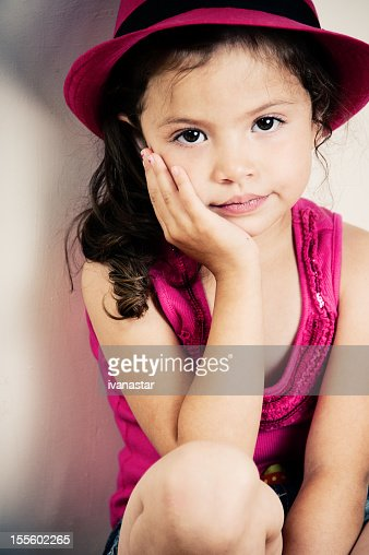 Cute 15 Year Old Girls cute four year old girl sitting stock photo | getty images