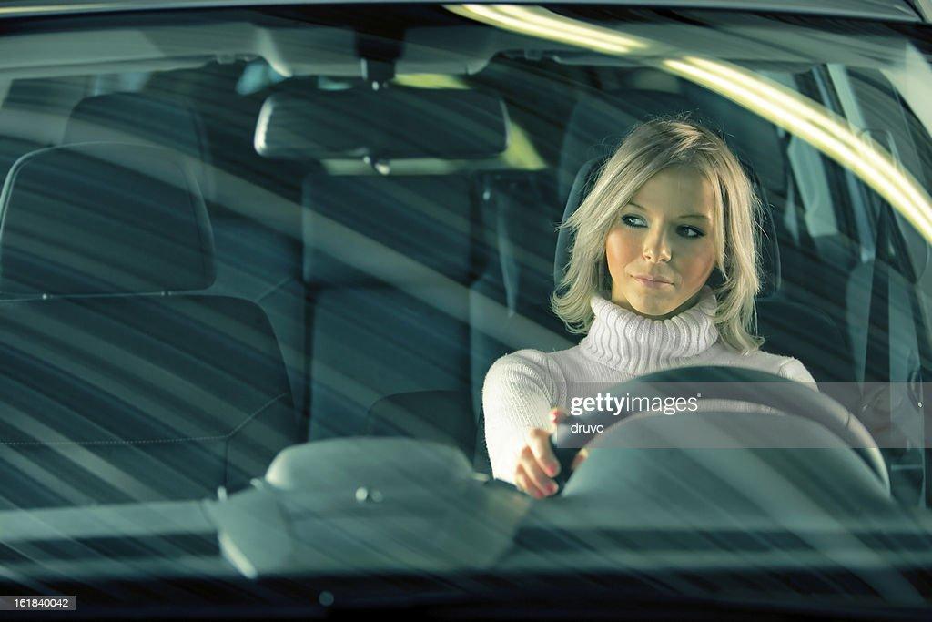 Cute Girl in a car