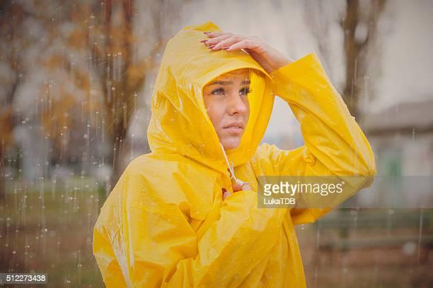 Cute girl ready for the rain!