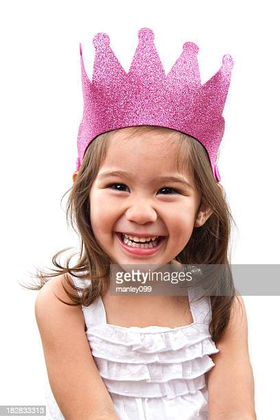 cute girl with princess crown
