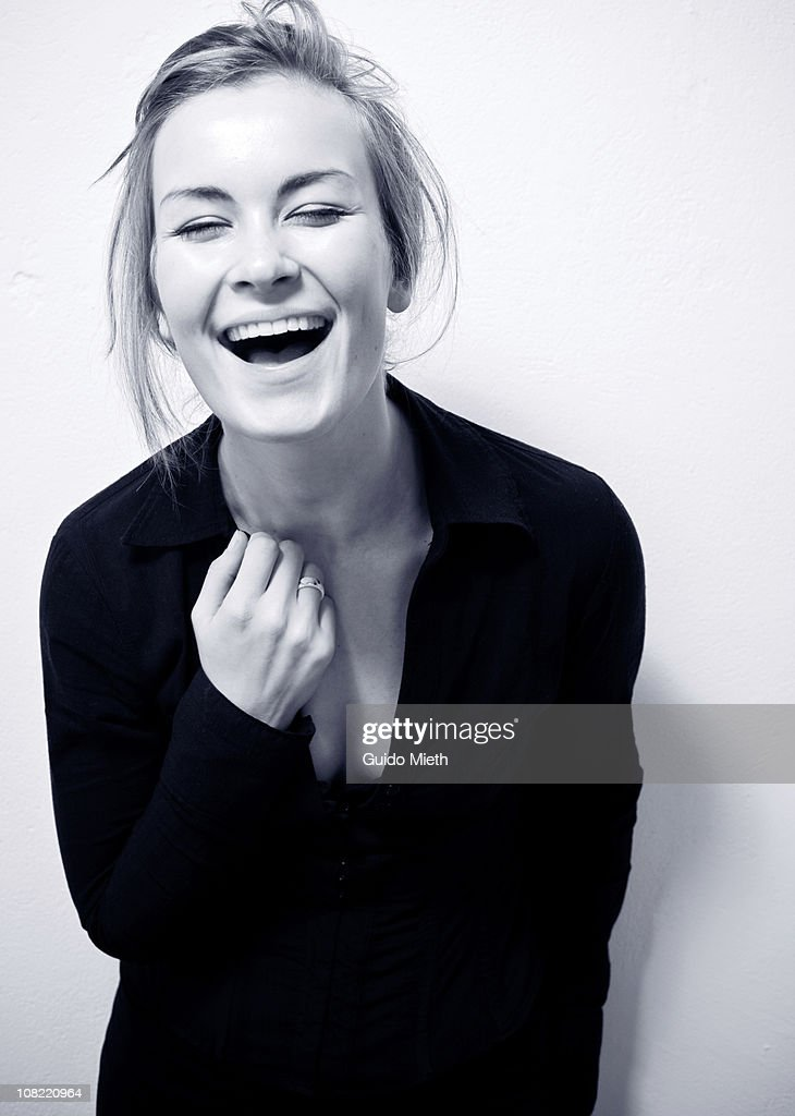 Cute happy laughing girl : Stock Photo