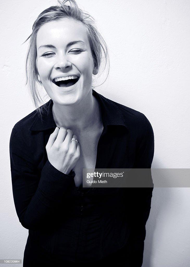 Cute happy laughing girl