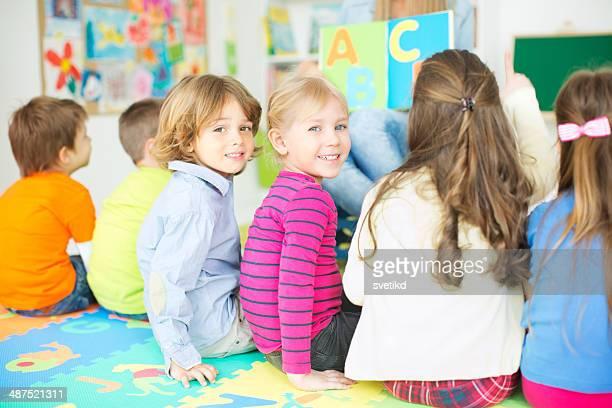 Jolie enfants kindergarden.