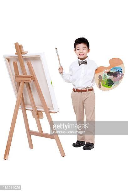 Cute little boy drawing