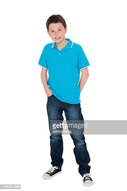 Carino piccolo ragazzo in Casuals