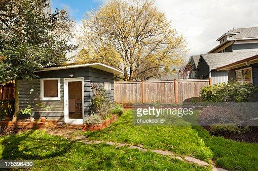 Cute little garden shed in back yard