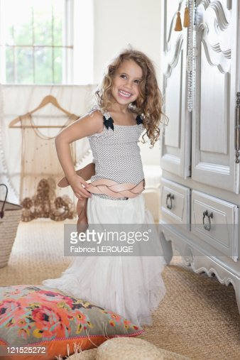 Girlfriend getting dressed