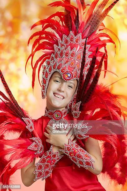 Cute little girl in Carnival Samba costume