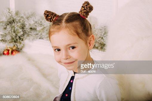 Cute little girl in studio : Stock Photo