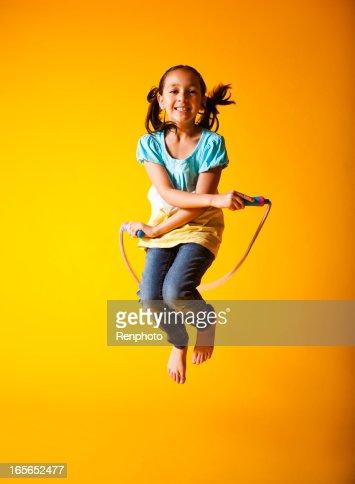 Cute Little Girl Jump Roping