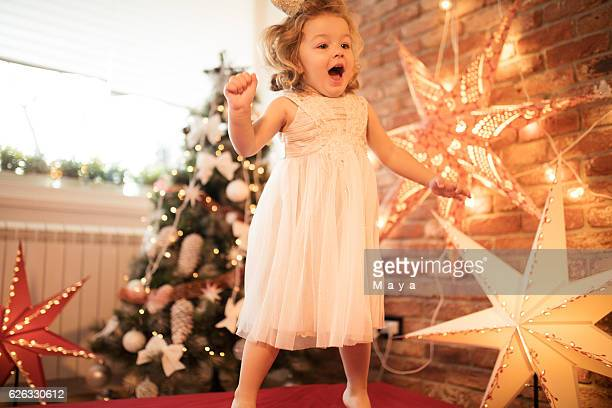 Cute little girl ready for Christmas