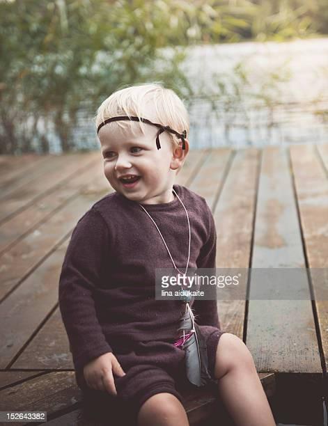 Cute little small boy