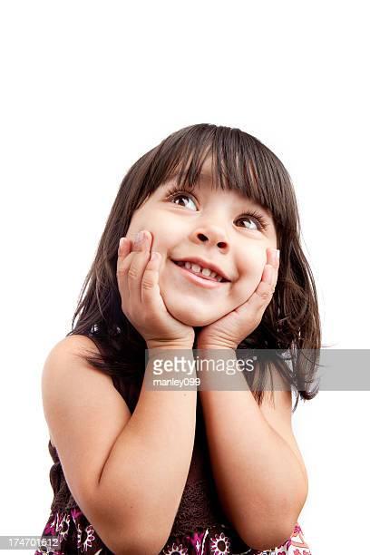Süßes kleines Mädchen nachschlagen