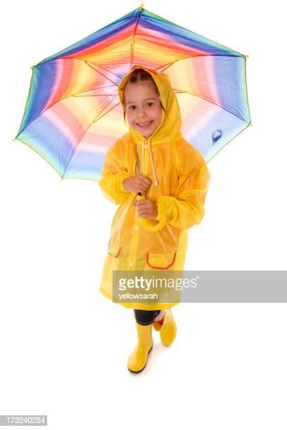 Linda chica Rainy Day