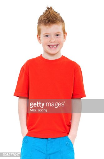 Cute red-haired boy : Stockfoto