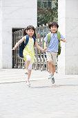 Cute schoolchildren